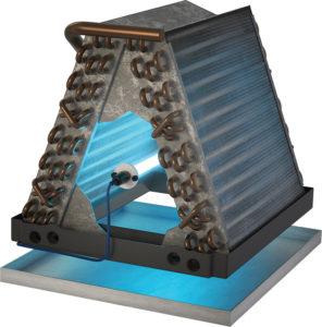 Blue-Tube-in-A-Coil-drain-pan-296x300
